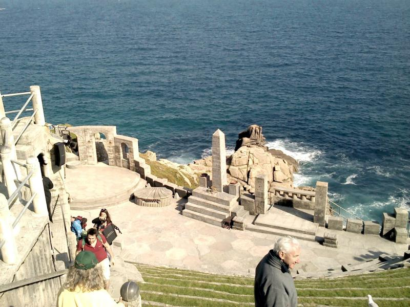 Minack open air theatre stage
