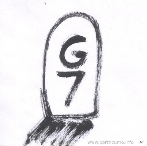 G7 tombstone with shadow