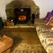 Bodellan living room and log burner