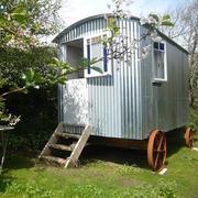 Shepherd's Hut in garden setting